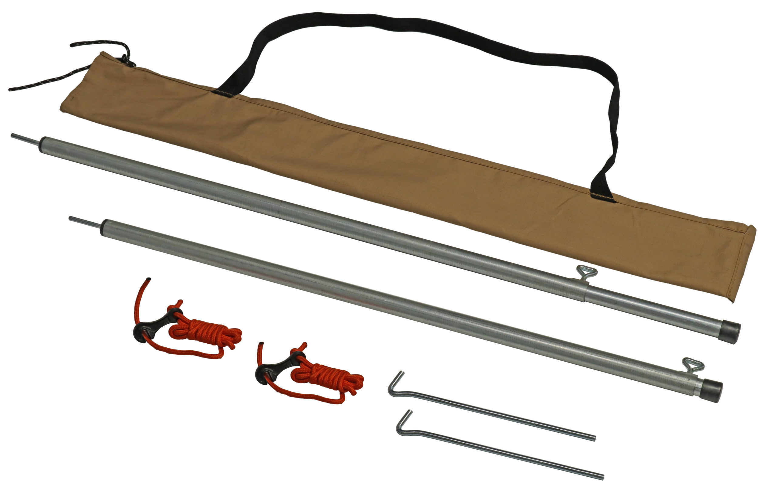 Awning pole set